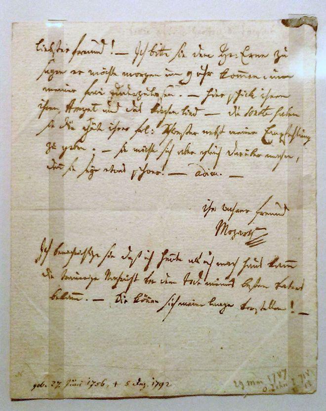 Wolfgang Amadeus Mozart handschrift