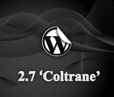 WordPress 2.7 Coltrane